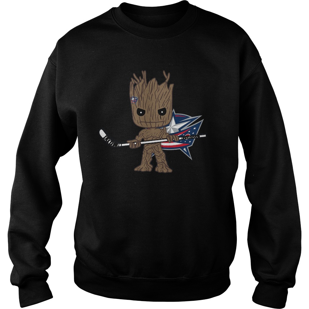 Groot I Am Ice Hockey Player Team Columbus Blue Jackets T-Shirt Sweat Shirt