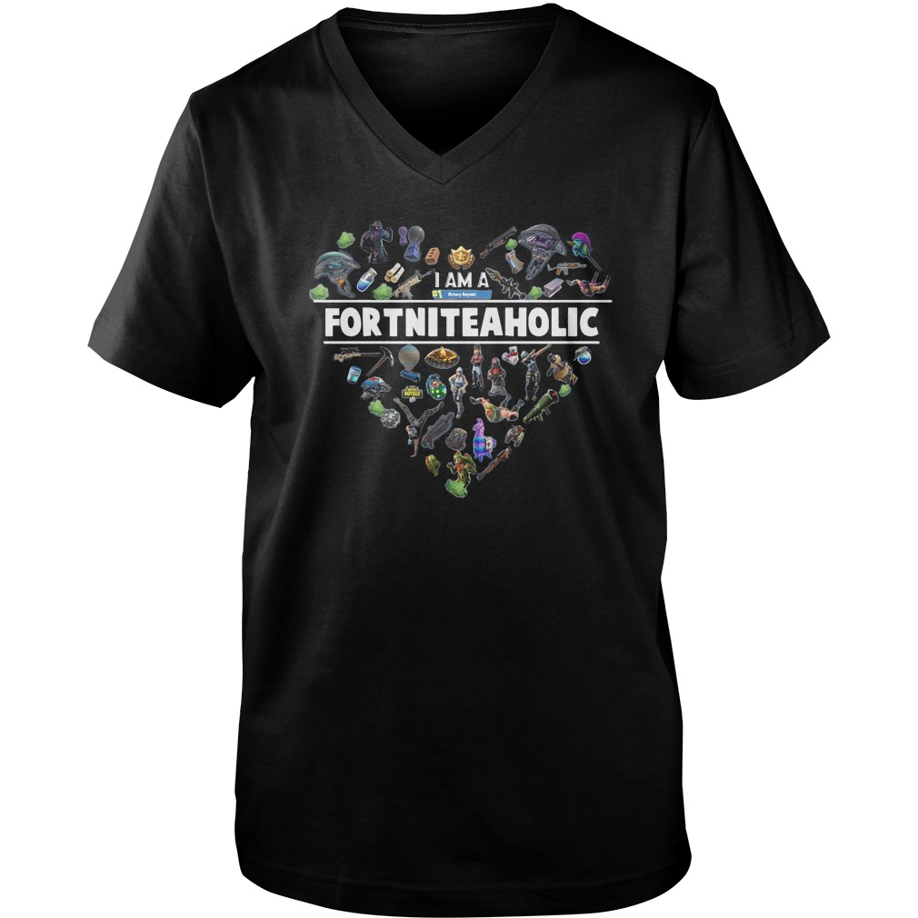 I Am A Number 1 FortniteaholicT-Shirt Guys V-Neck