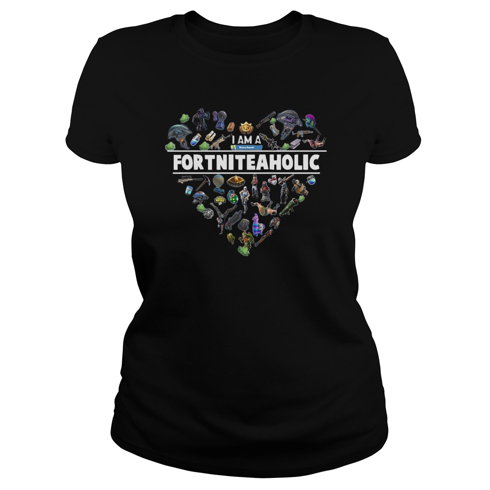 I Am A Number 1 FortniteaholicT-Shirt Ladies Tee