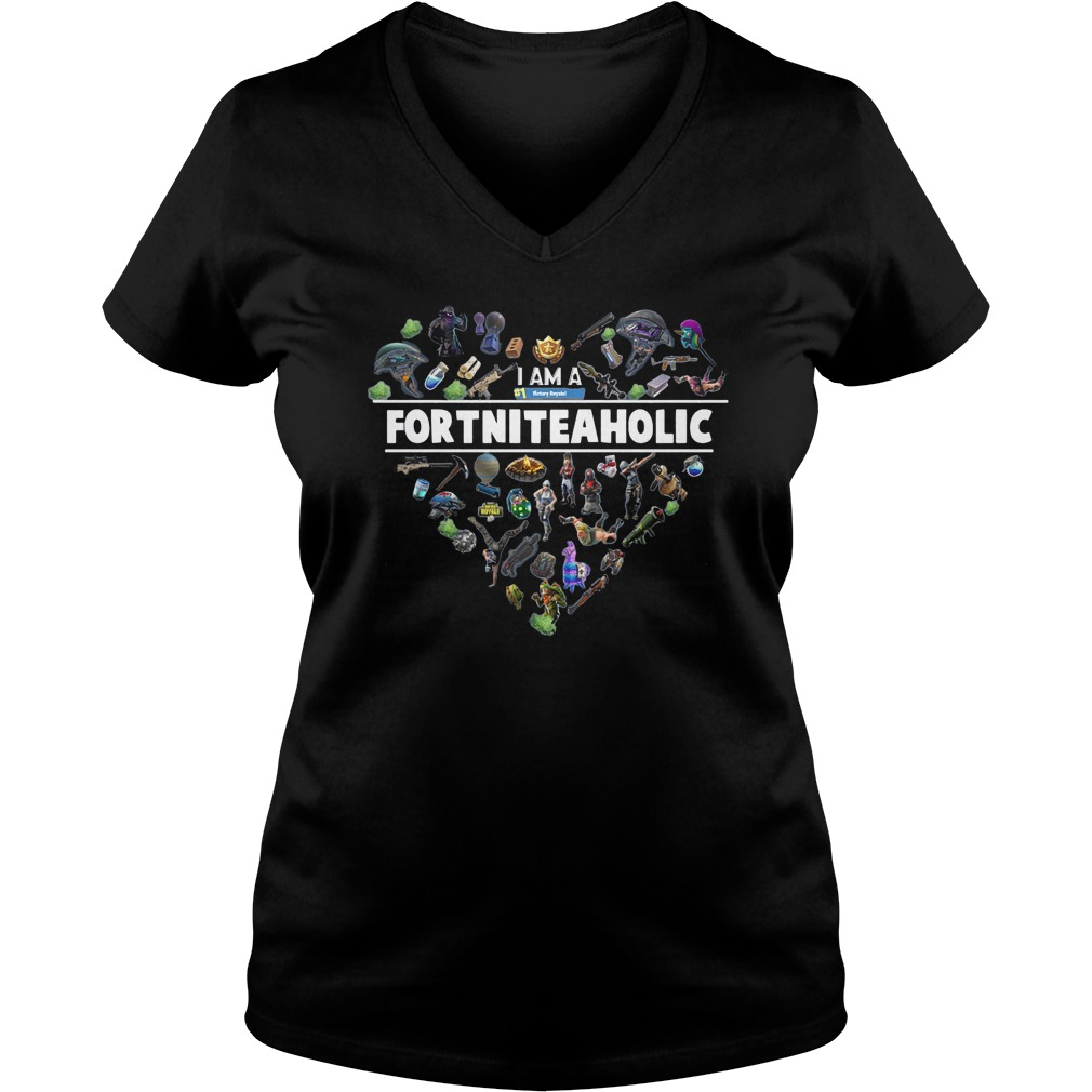 I Am A Number 1 FortniteaholicT-Shirt Ladies V-Neck