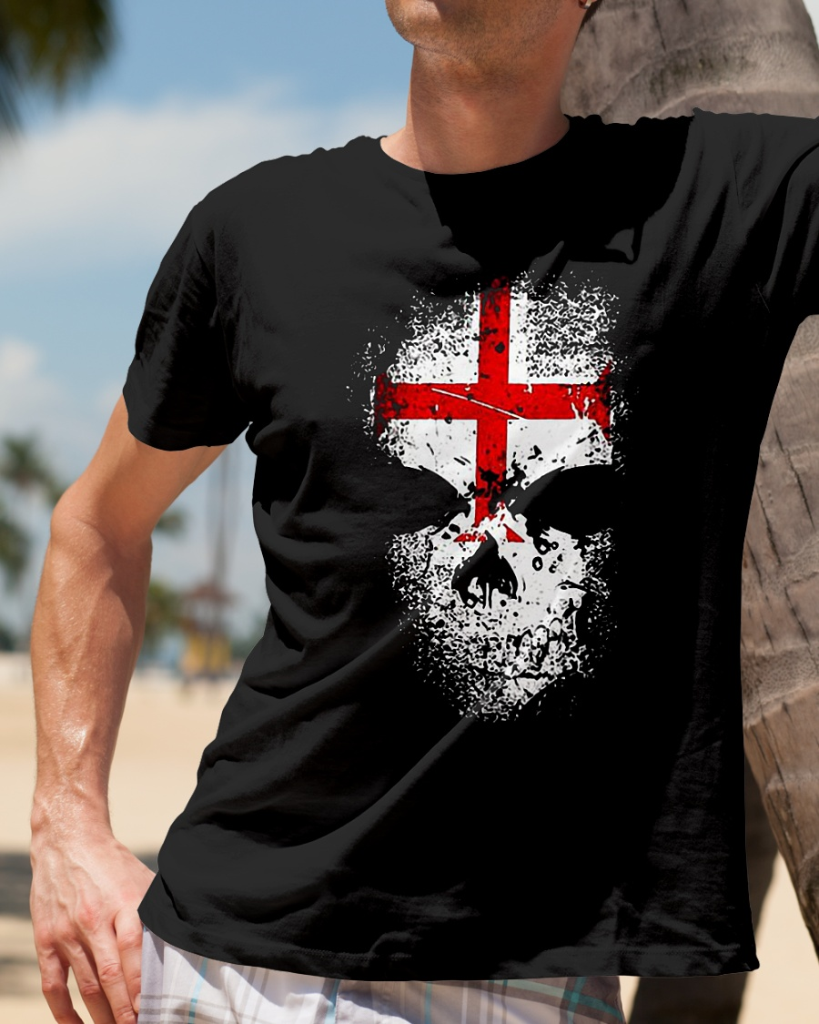Knights Templar Skull T Shirt