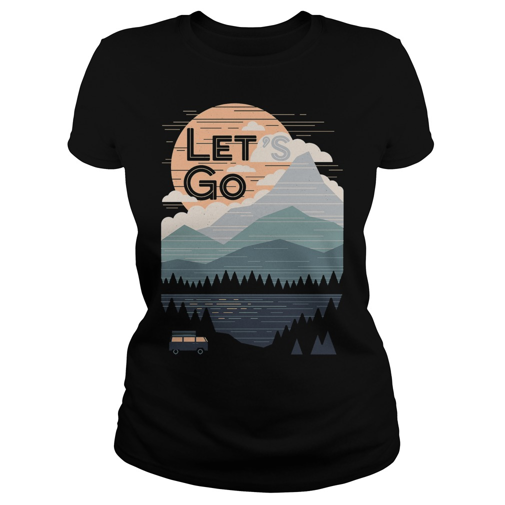 Let's Go With Mountain T-Shirt Ladies Tee
