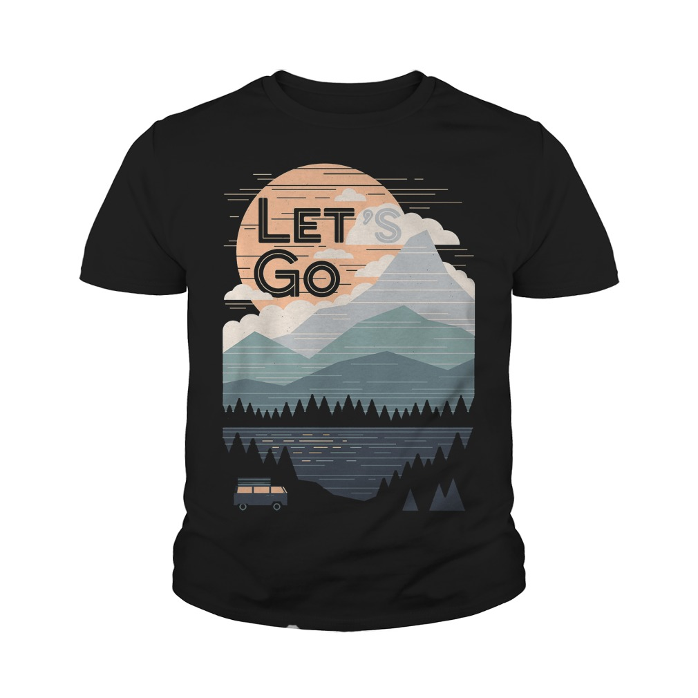 Let's Go With Mountain T-Shirt Youth Tee
