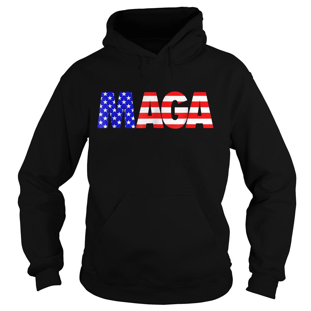 Maga America First Trump 2020 Republican USA Flag T-Shirt Hoodie