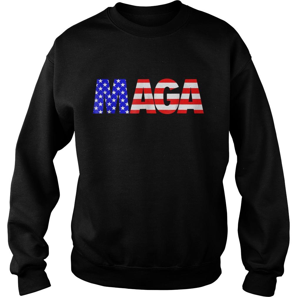 Maga America First Trump 2020 Republican USA Flag T-Shirt Sweat Shirt