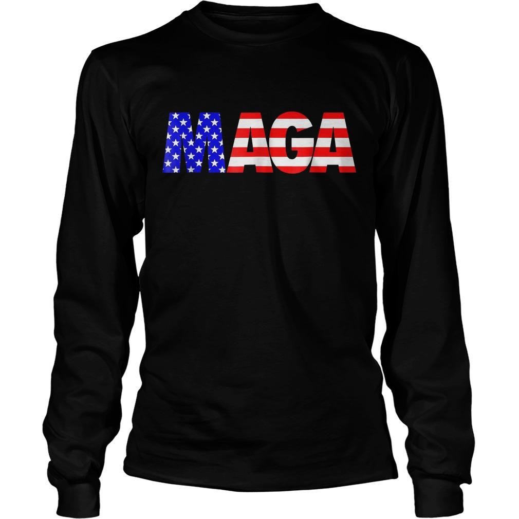 Maga America First Trump 2020 Republican USA Flag T-Shirt Unisex Longsleeve Tee