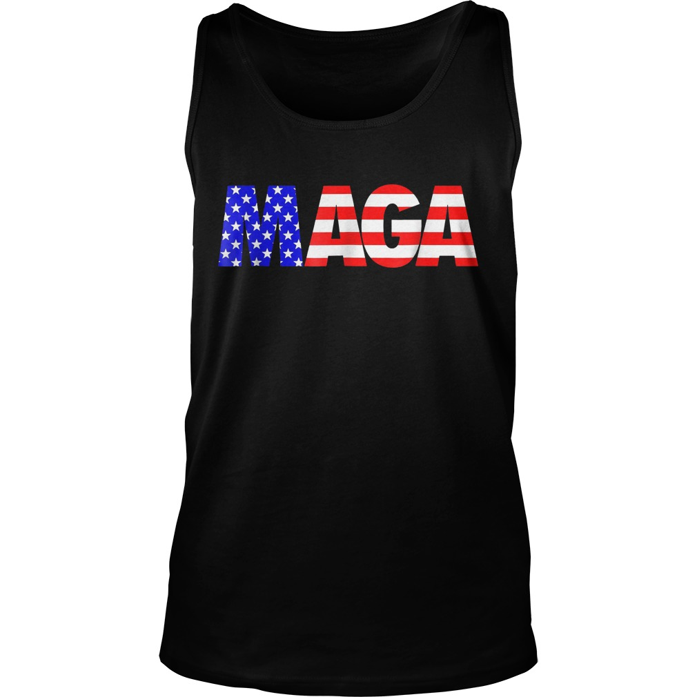 Maga America First Trump 2020 Republican USA Flag T-Shirt Unisex Tank Top