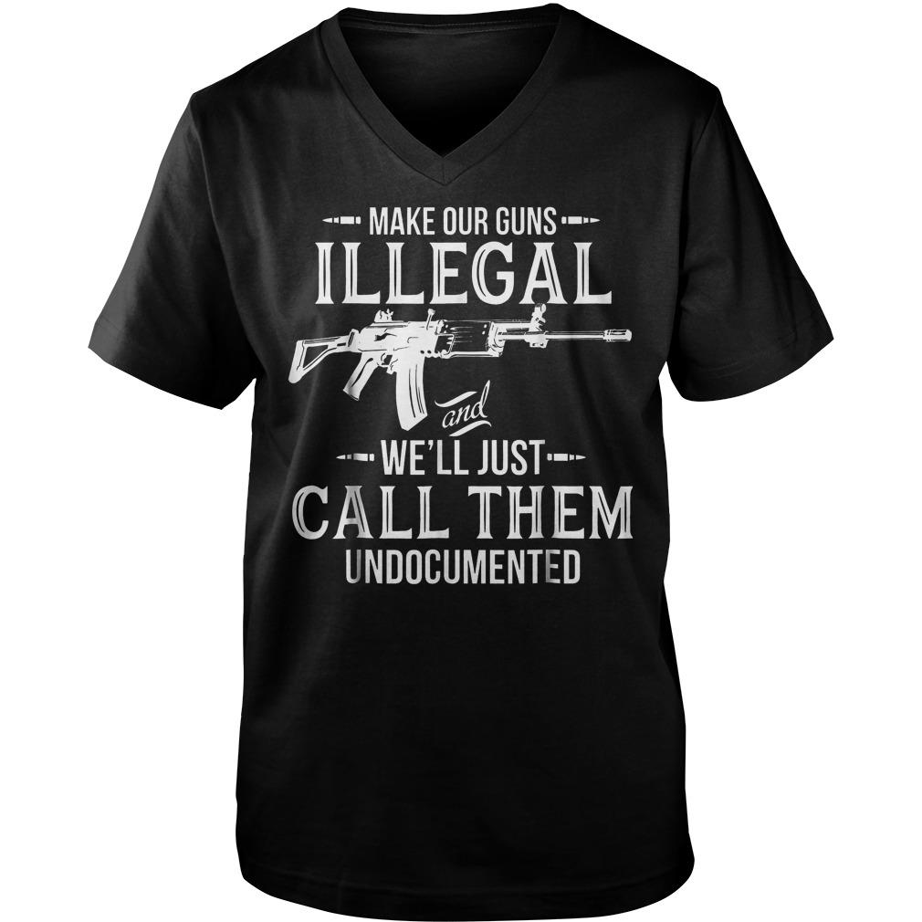 Make Our Guns Illegal Guys V-Neck