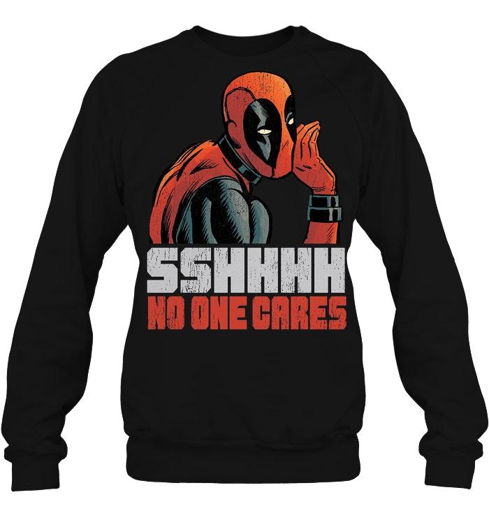 Marvel Deadpool Sshhhh No One Cares Sweater