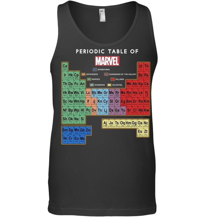 Marvel Ultimate Periodic Table Of Elements Tanktop