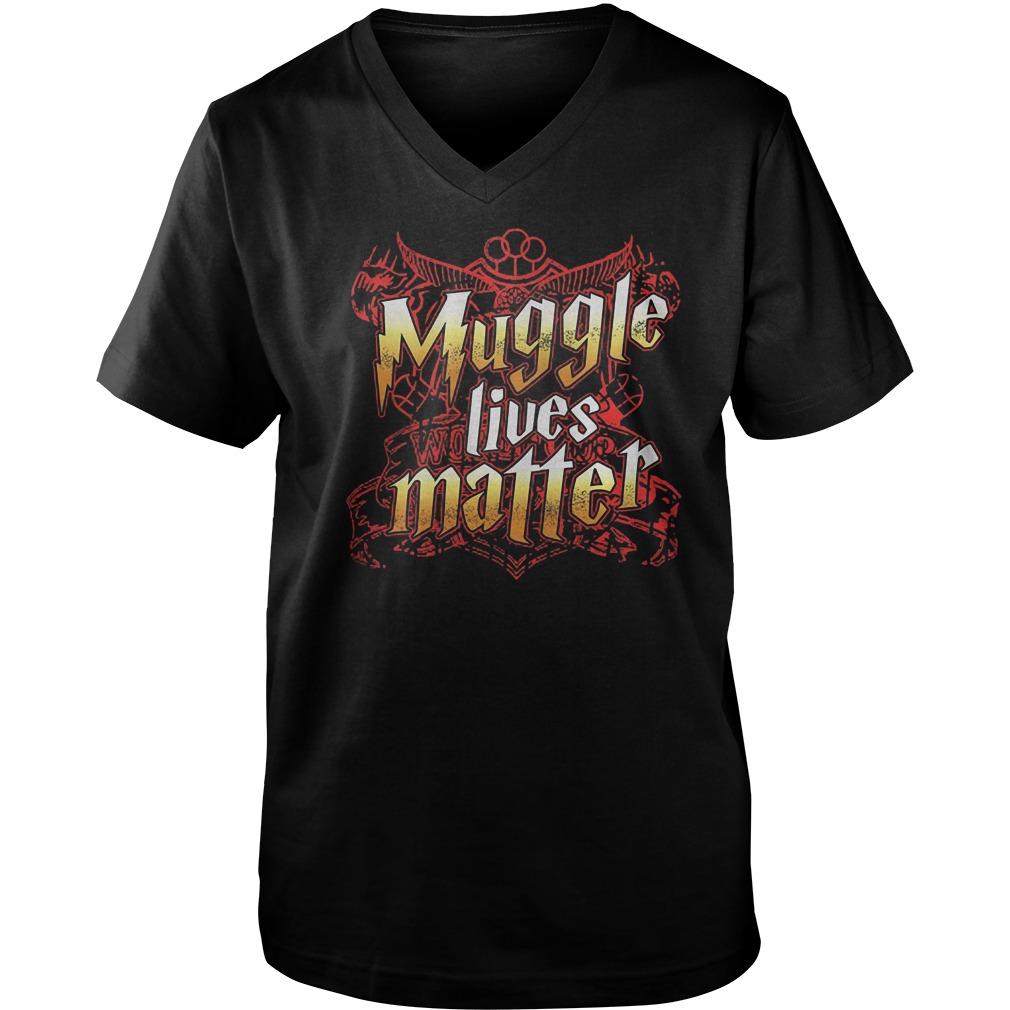 Muggle Lives Matter T-Shirt Guys V-Neck