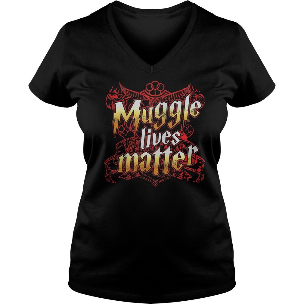 Muggle Lives Matter T-Shirt Ladies V-Neck