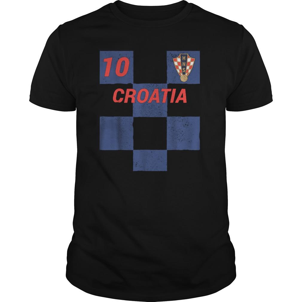 No 10 Proud Croatian World Cup 2018 T Shirt