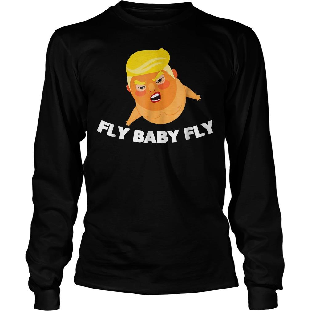 Offiicial Babysitter Baby Fly Trump T-Shirt Longsleeve Tee Unisex