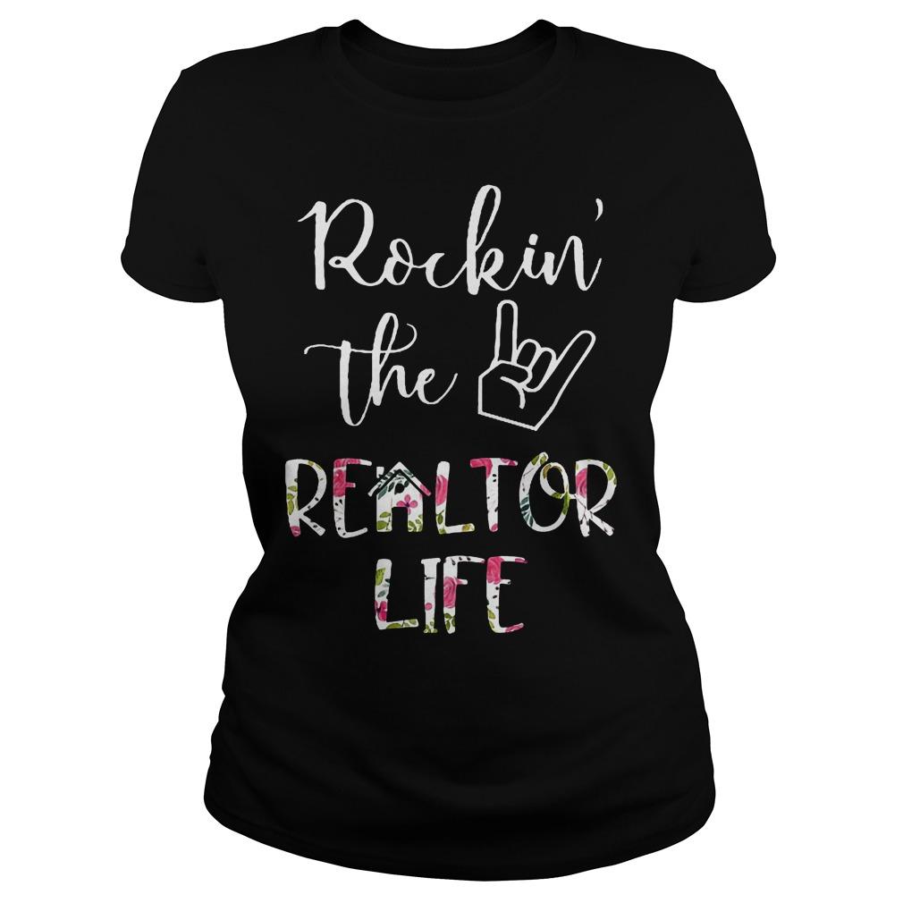 Rockin' the Realtor Life T-Shirt Classic Ladies Tee