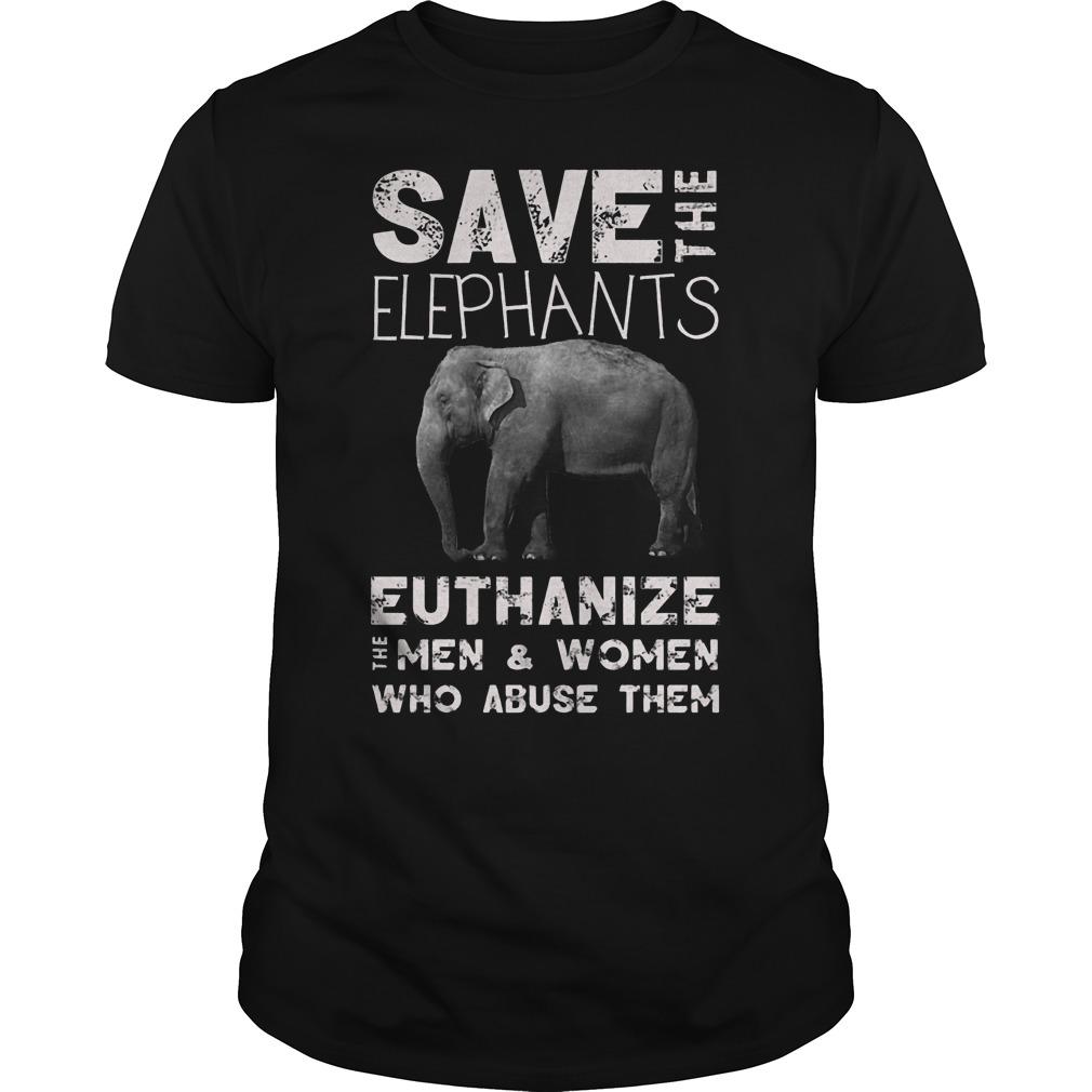 Save The Elephants Euthanize T-Shirt Classic Guys / Unisex Tee