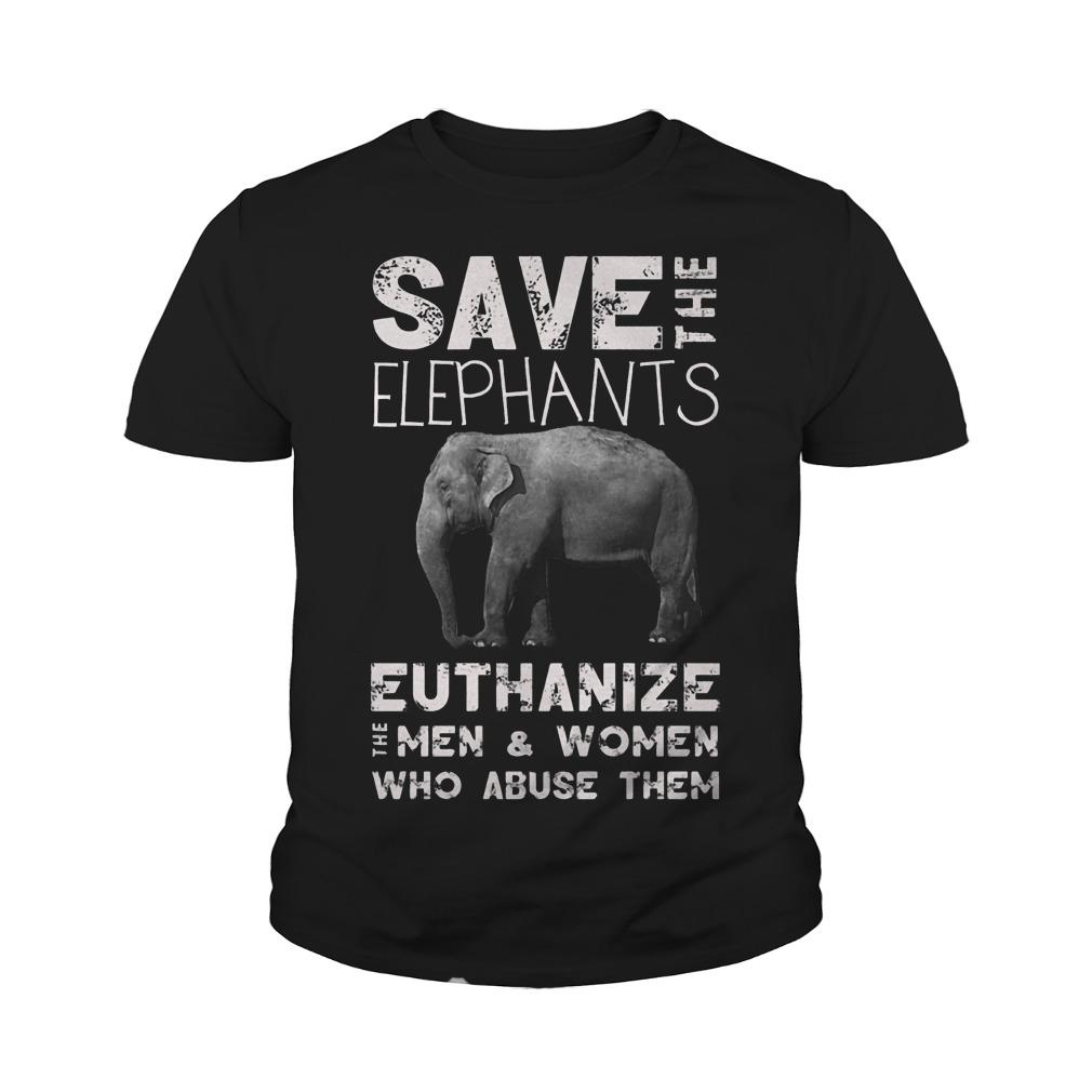 Save The Elephants Euthanize T-Shirt Youth Tee