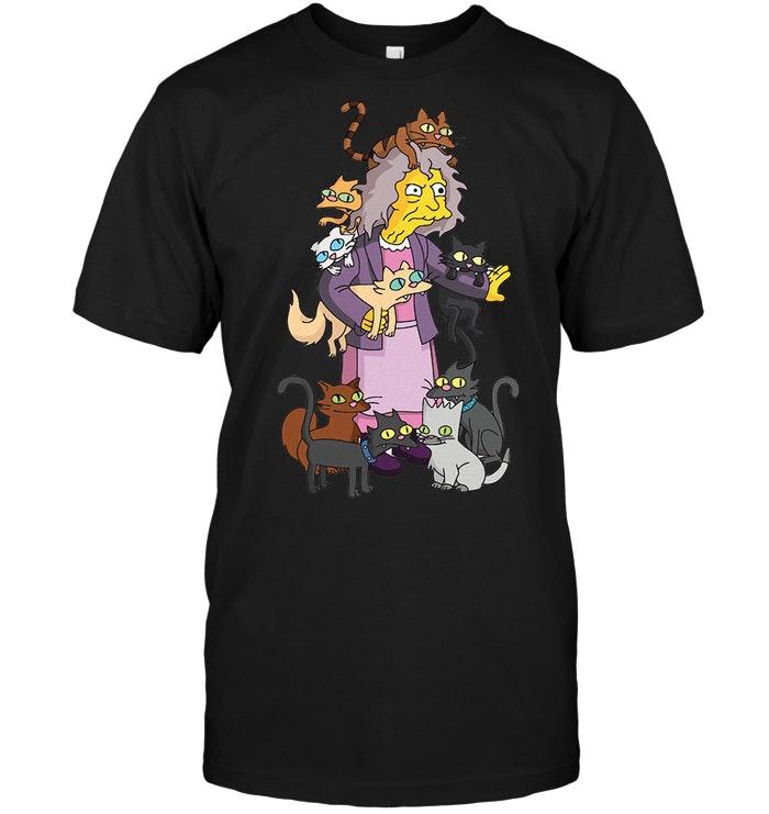 The Simpsons Crazy Cat Lady Eleanor Abernathy T Shirt