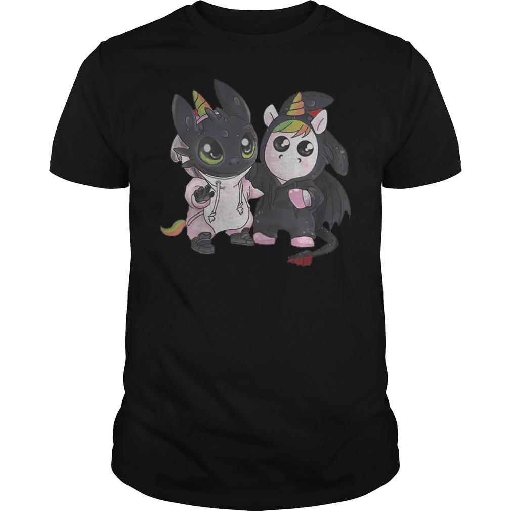 Toothless And Unicorn T-Shirt Classic Guys / Unisex Tee