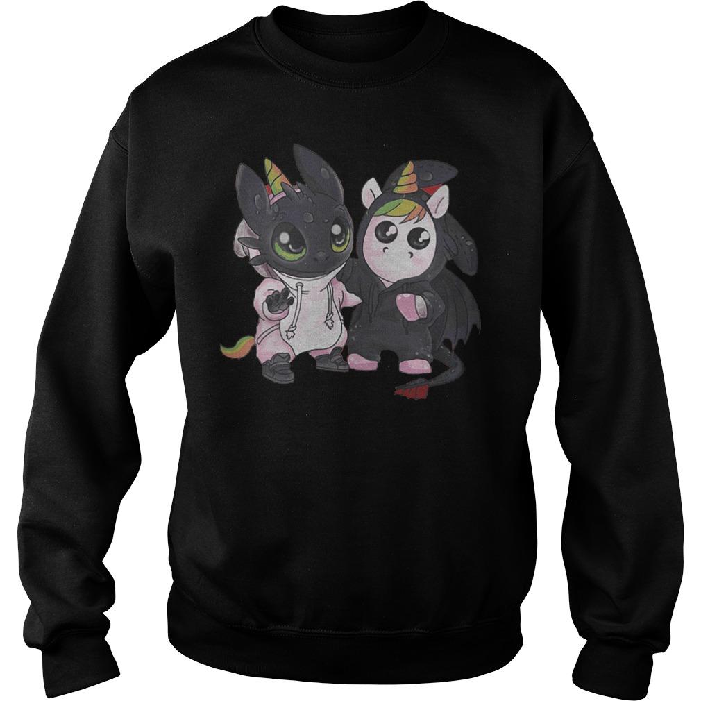 Toothless And Unicorn T-Shirt Sweatshirt Unisex