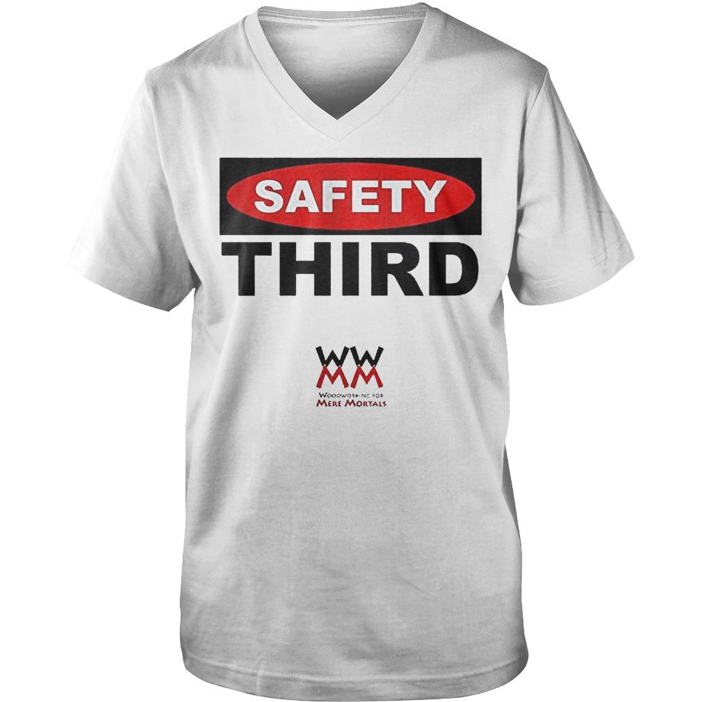 WWMM Safety Third T-Shirt Guys V-Neck