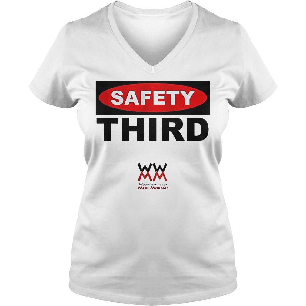 WWMM Safety Third T-Shirt Ladies V-Neck