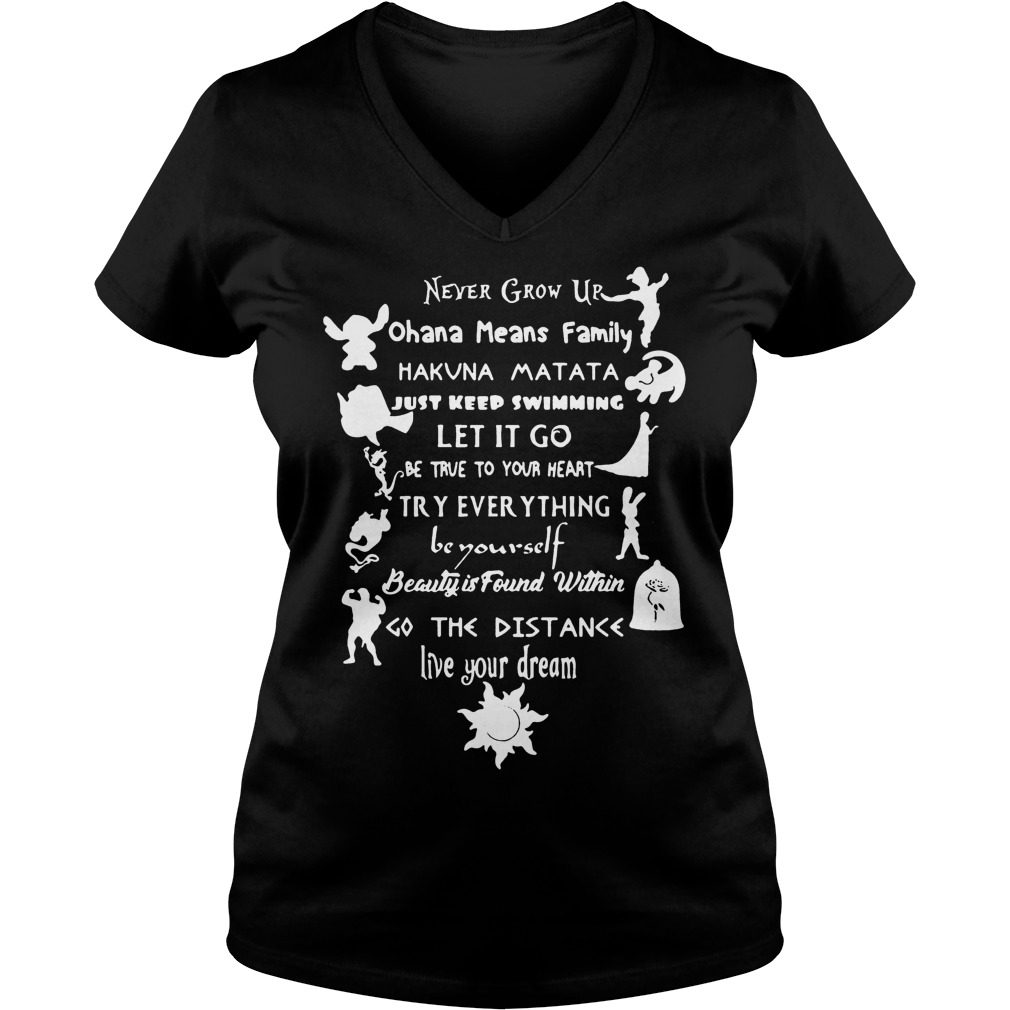 11 lessons Disney shirt Ladies V-Neck
