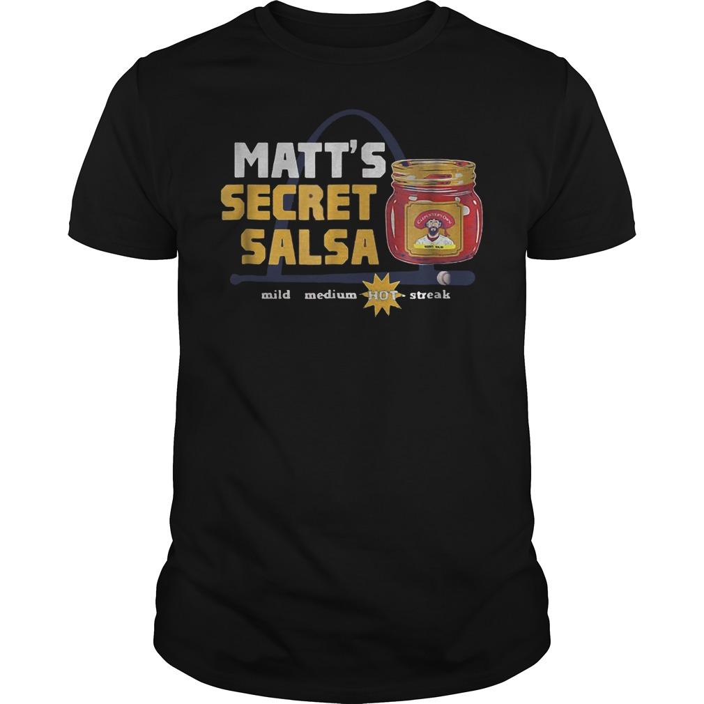 Baseball Carpenter Matts Secret Salsa Shirt
