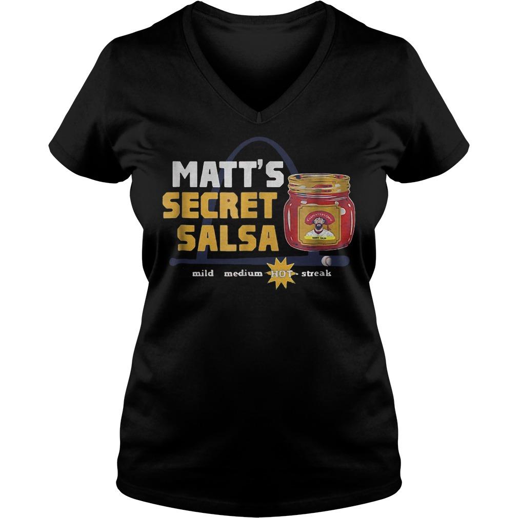 Baseball Carpenter Matts Secret Salsa shirt Ladies V-Neck