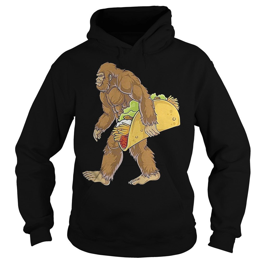 Bigfoot Carrying Taco Shirt Hoodie