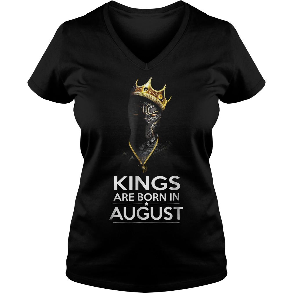 Black Panther Kings Are Born August Shirt Ladies V-Neck