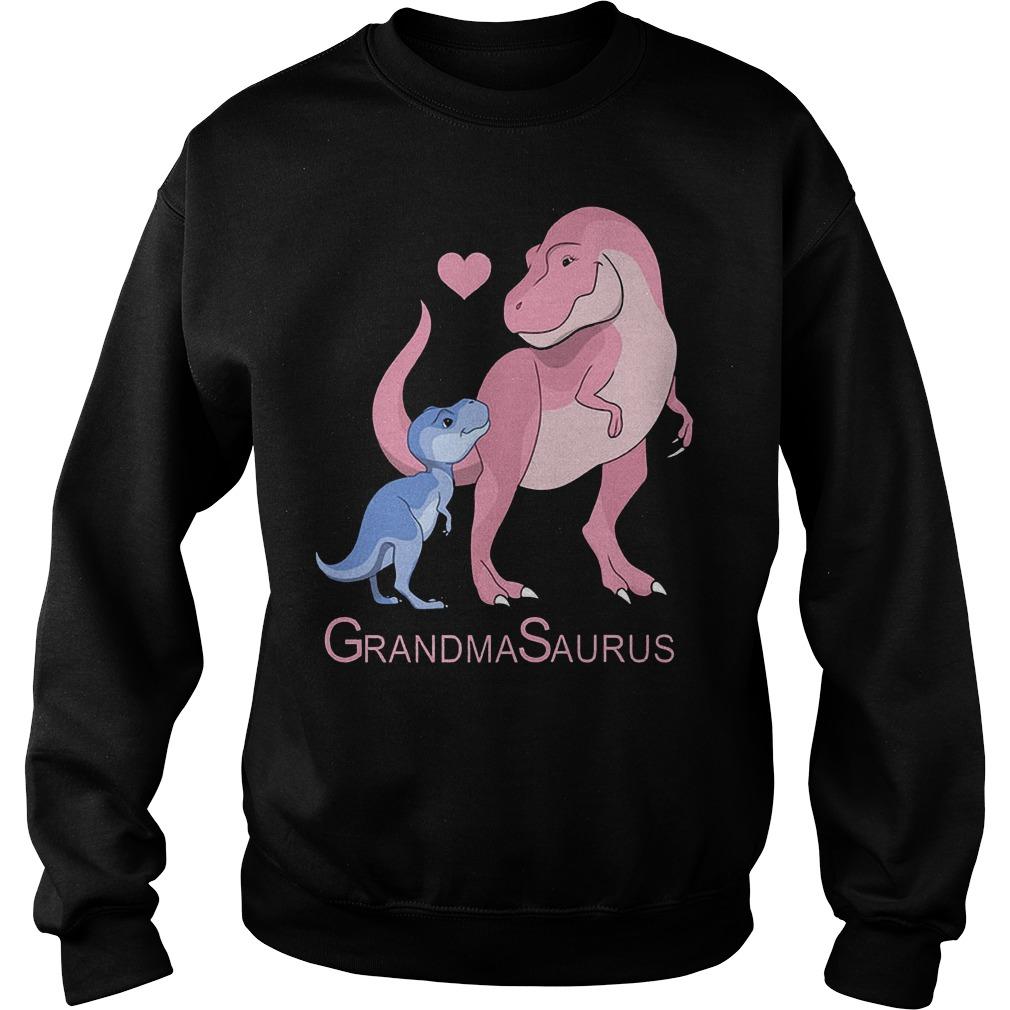 Blue and pink Dinosaurus Grandma Saurus Shirt Sweatshirt Unisex