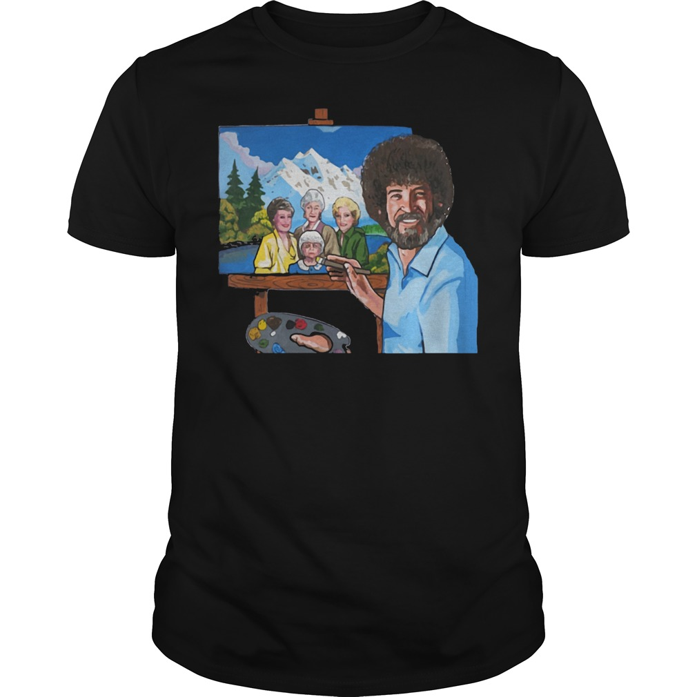 Bob Ross Painting The Golden Girl shirt