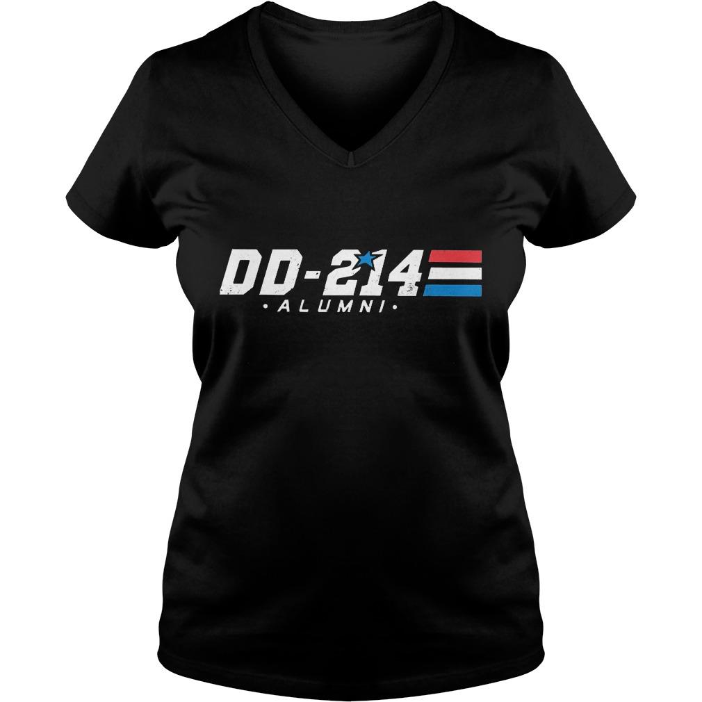 DD-214 - Alumni Veterans Military Shirt Ladies V-Neck