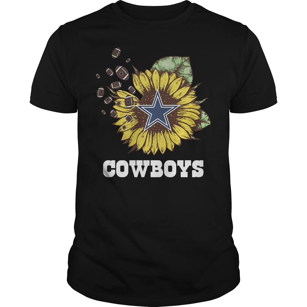 Dallas Cowboys Sunflower Shirt Classic Guys Unisex Tee.jpg