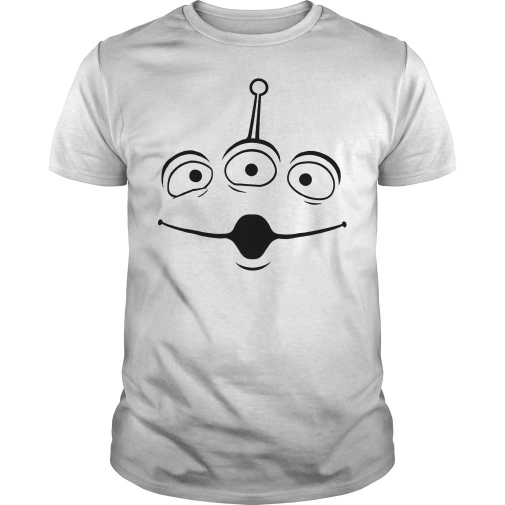 Disney Pixar Toy Story Alien Face Shirt Classic Guys Unisex Tee.jpg