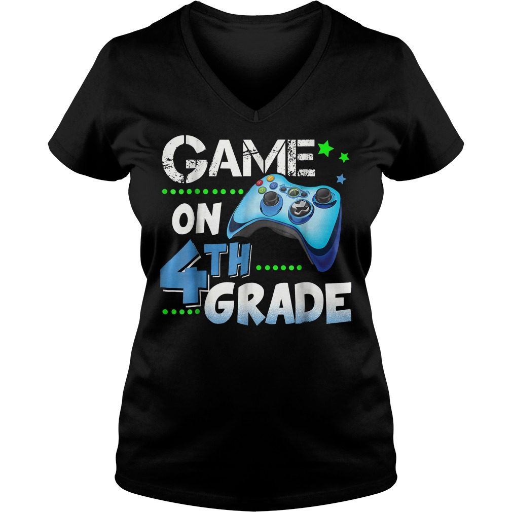 Game On 4th Grade Ladies V-Neck
