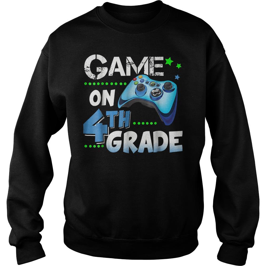 Game On 4th Grade Sweatshirt Unisex