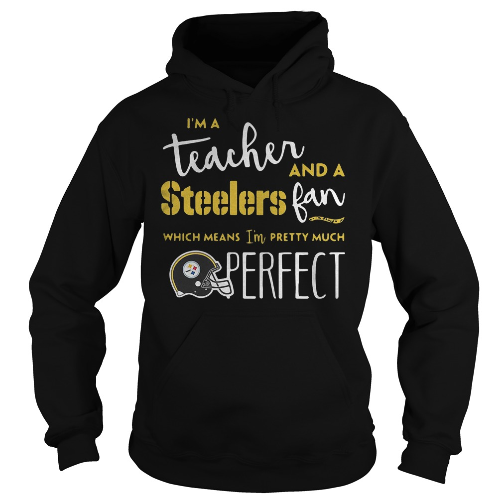 I'm a teacher and a Steelers fan which means I'm pretty much perfect shirt Hoodie