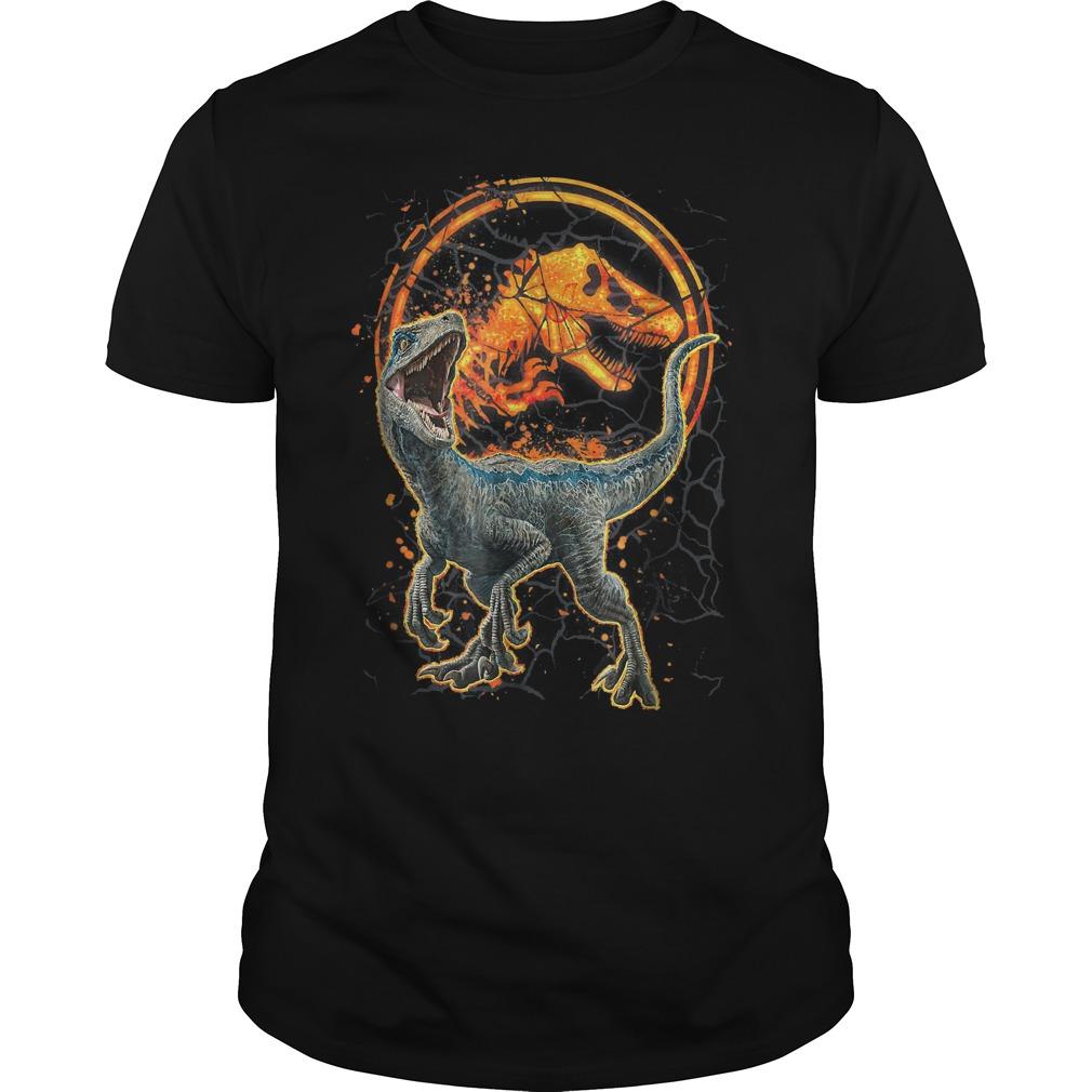 Jurassic World Two Blue Raptor Magma Graphic shirt