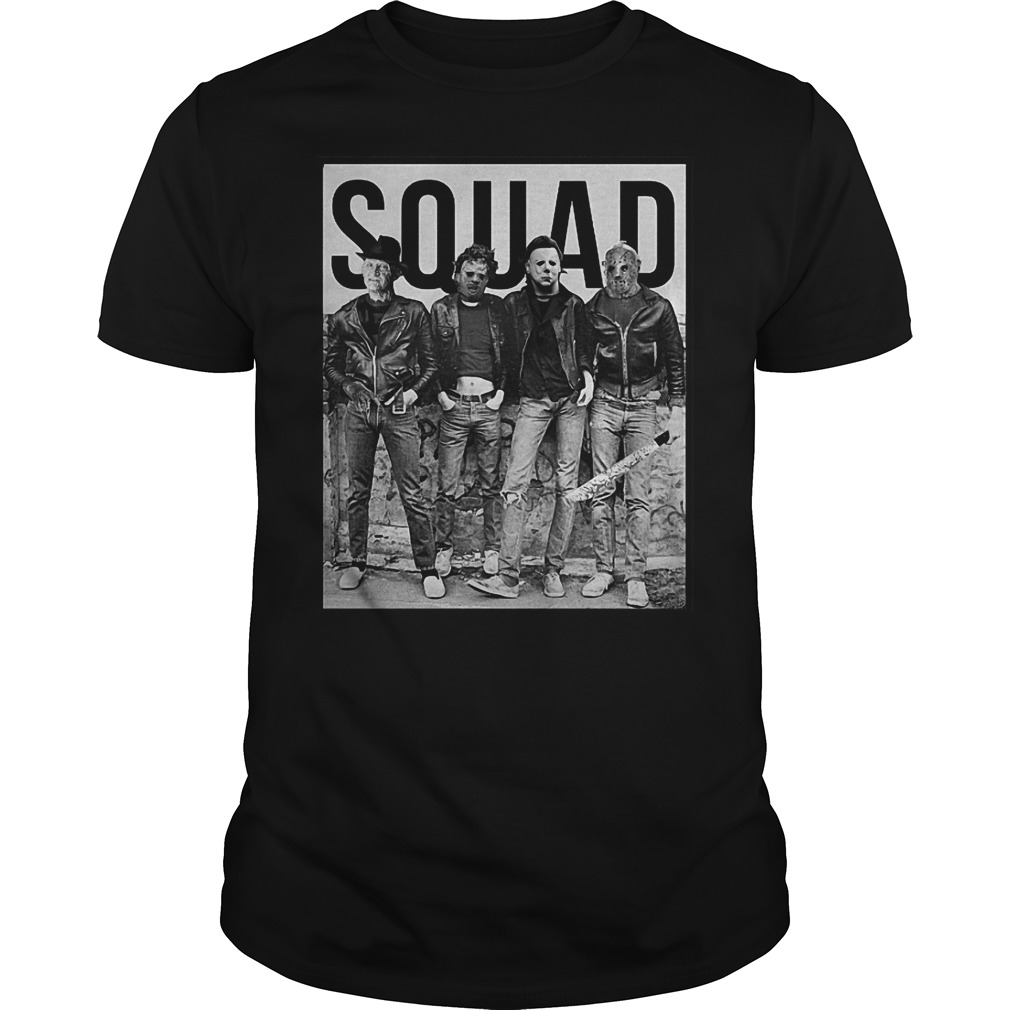 Michael Myers Jason Voorhees Freddy Krueger Leatherface Halloween Squad Shirt