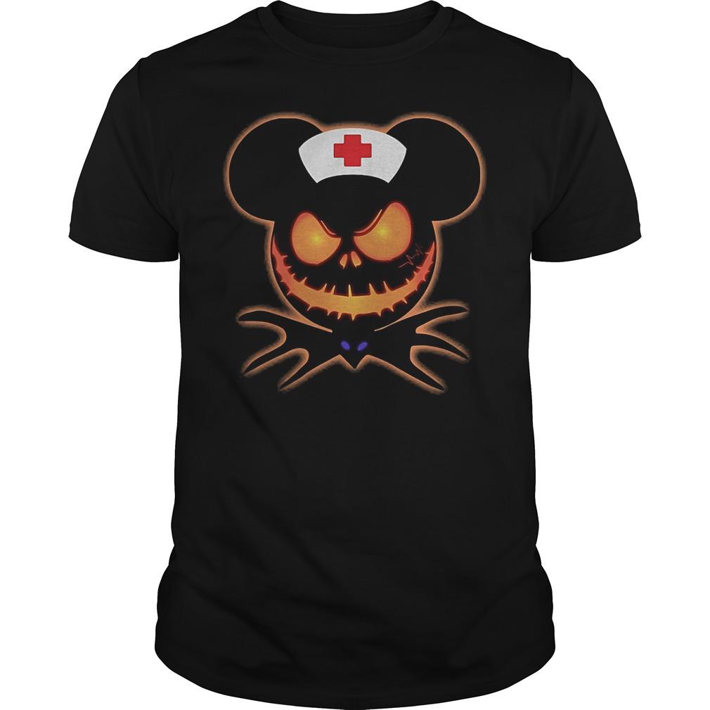 Mickey Nurse Pumpkin Jack Skellington shirt