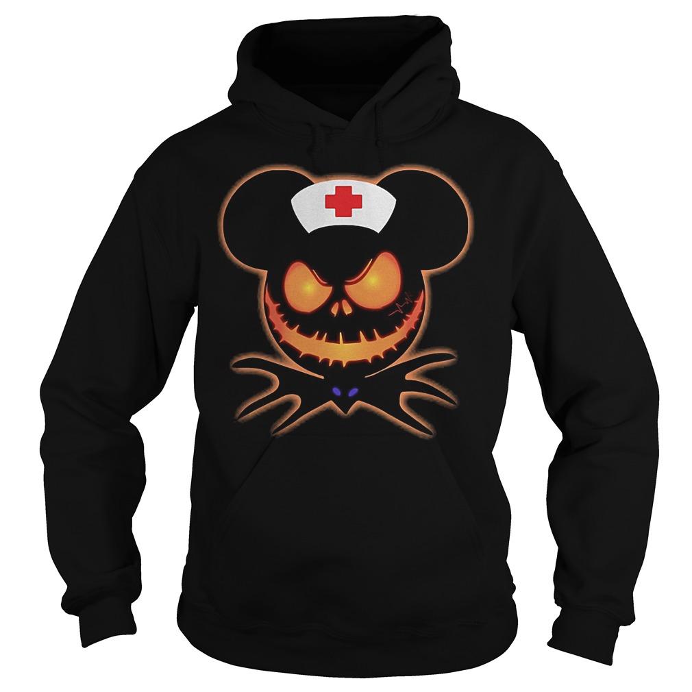 Mickey Nurse Pumpkin Jack Skellington shirt Hoodie