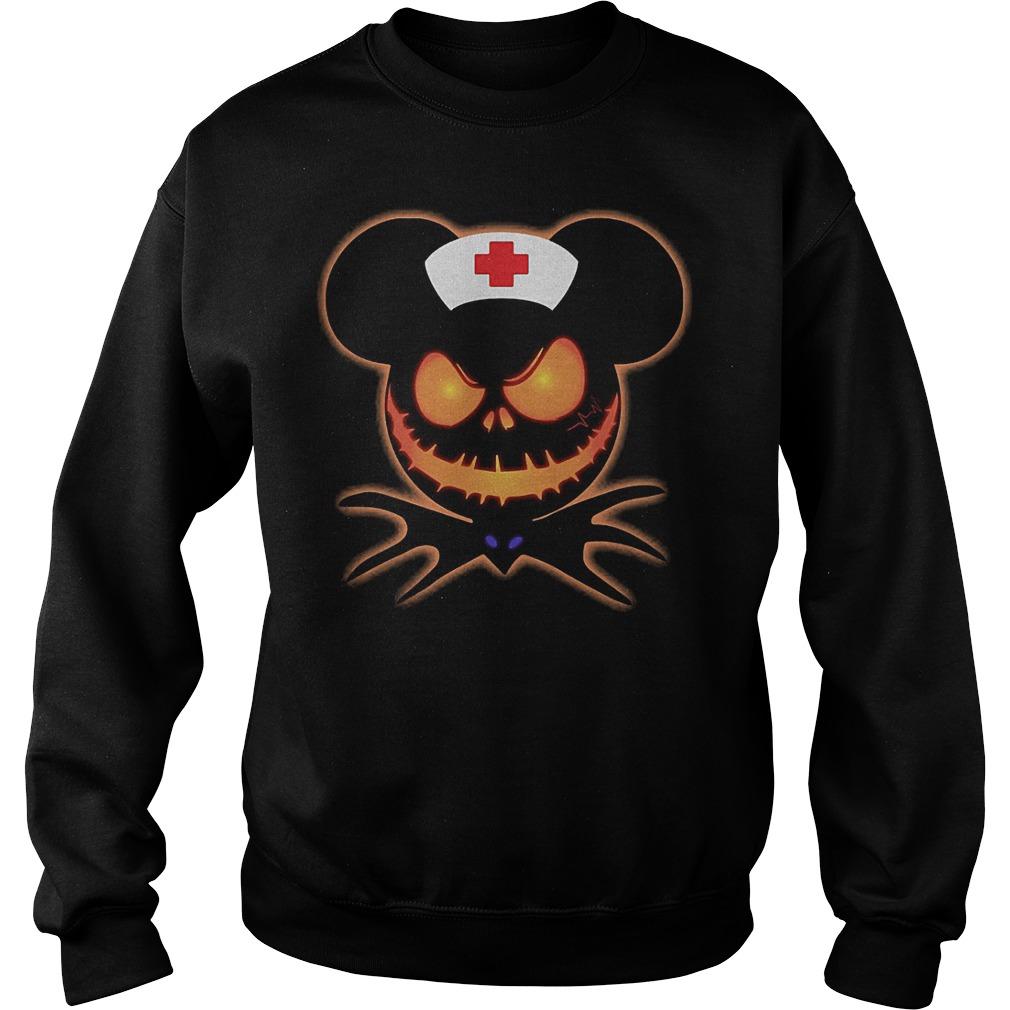 Mickey Nurse Pumpkin Jack Skellington shirt Sweatshirt Unisex