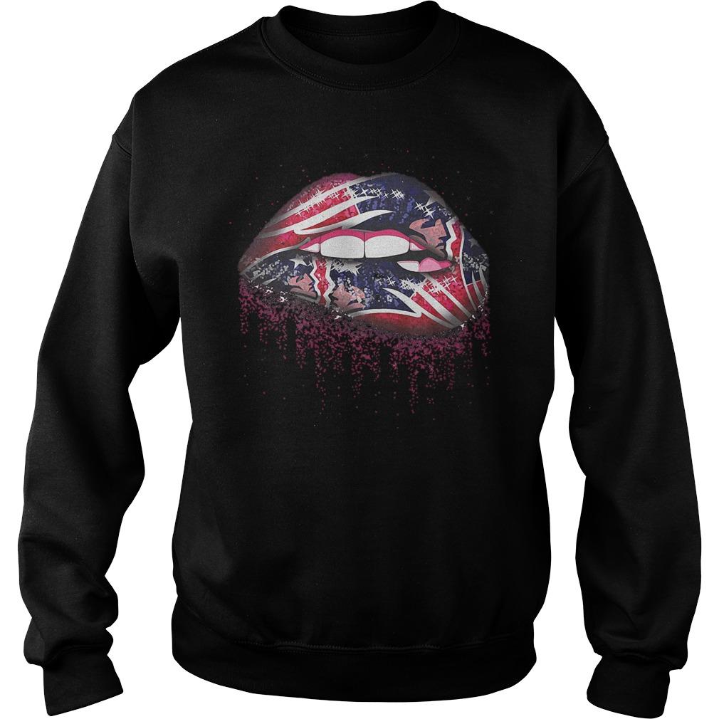 New England Patriots Sweat Lips shirt Sweatshirt Unisex