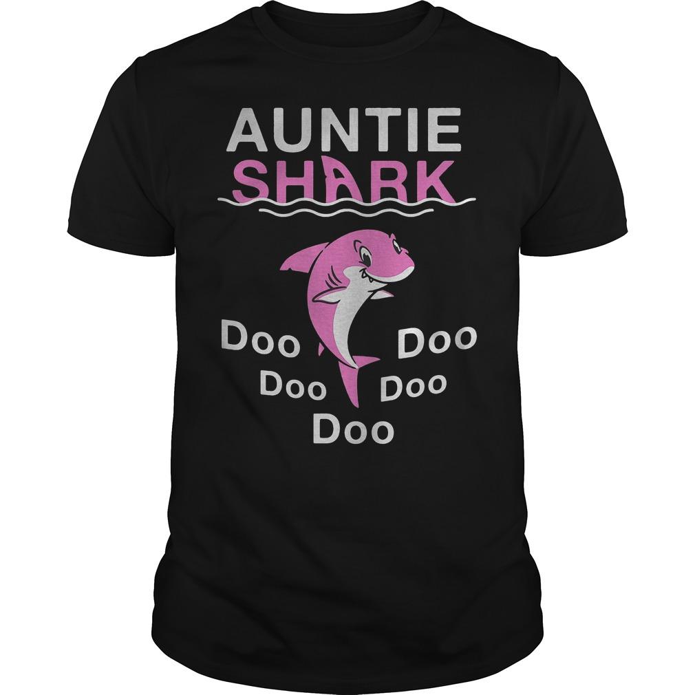 Pink Shark Auntie Shark shirt