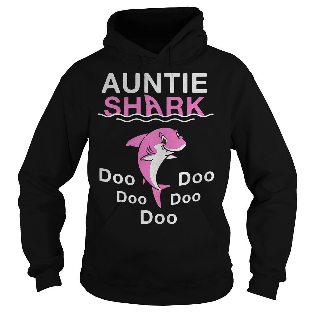 Pink Shark Auntie Shark shirt Hoodie
