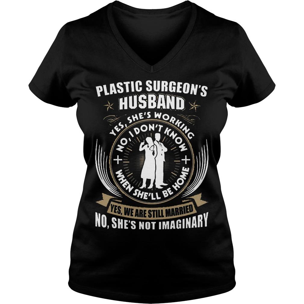 Plastic Surgeon's Husband Shirt Ladies V-Neck