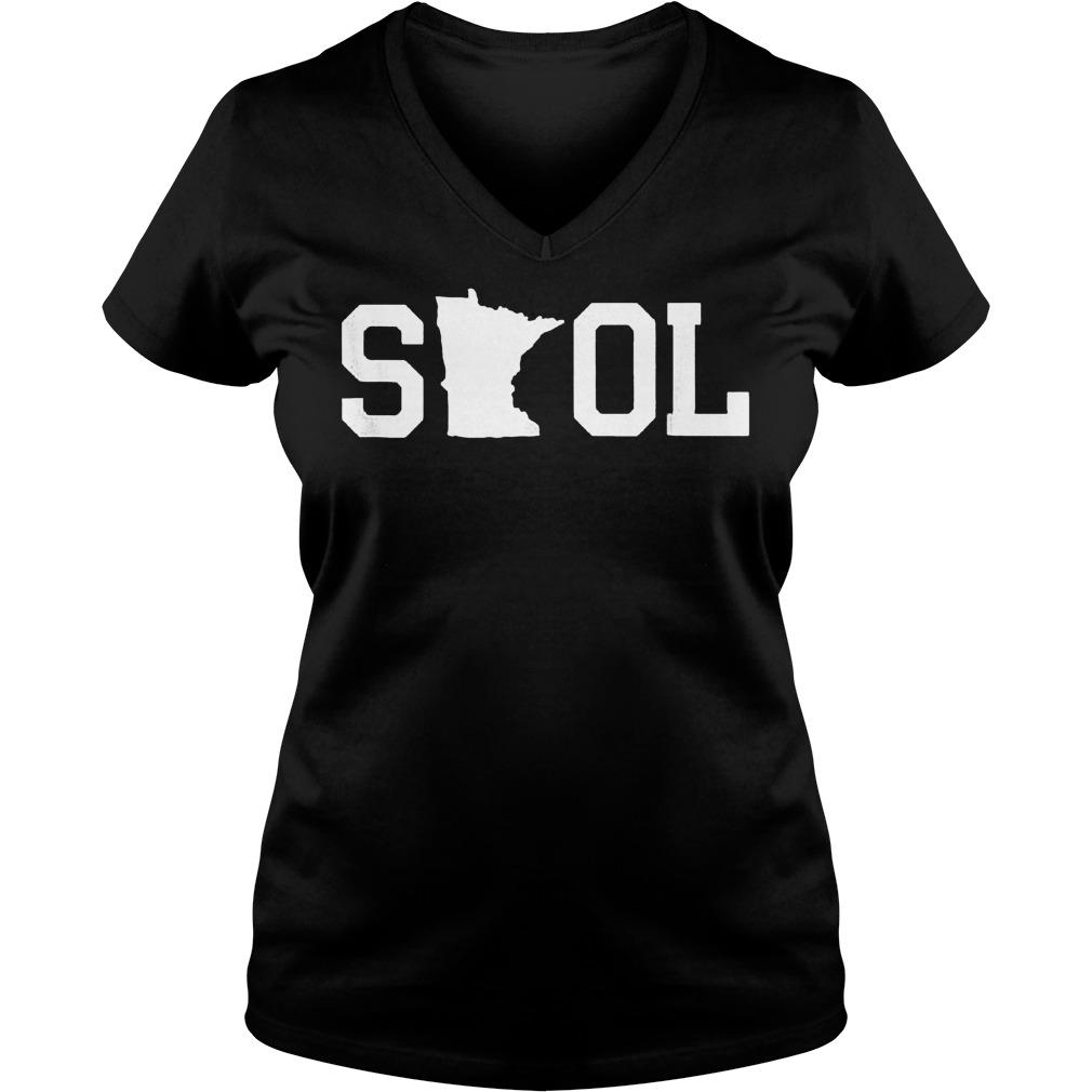 Skol Tailgating Minnesota shirt Ladies V-Neck