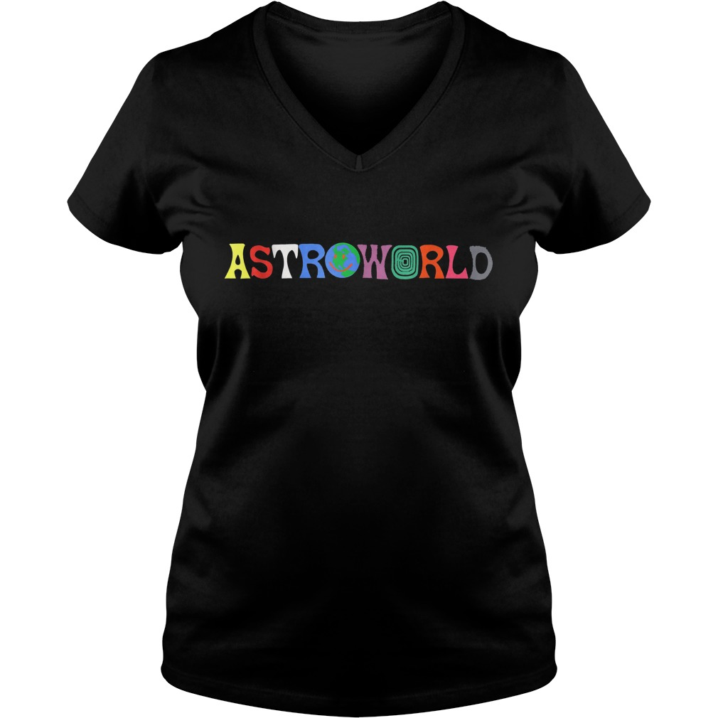 Travis Scott Astroworld Shirt Ladies V-Neck
